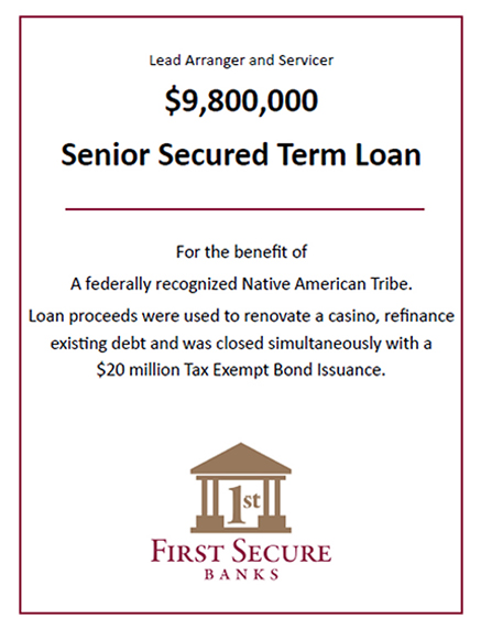 Senior Secured Term Loan - $9,800,000